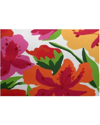 Simply Daisy, Tropical Floral, Floral Print Indoor/Outdoor Rug