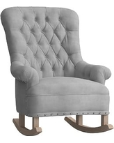 Radcliffe Rocker, Pewter Nailheads, Performance Everyday Velvet Silver Gray (Driftwood)