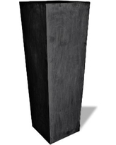 Amedeo Design 2513-40C ResinStone Tall Square Vase Planter, 24 by 24 by 72-Inch, Charcoal