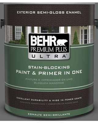 BEHR ULTRA 1 gal. Home Decorators Collection #HDC-AC-17A Welded Iron Semi-Gloss Enamel Exterior Paint & Primer