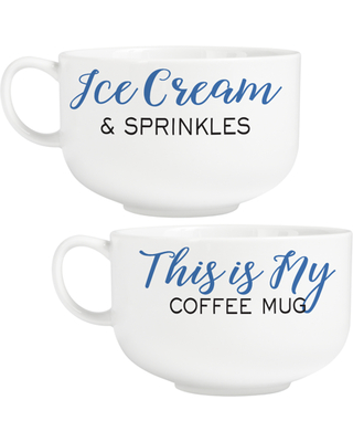 Personalized Sincerely Yours Signature Bowl - Blue Set of 2
