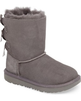 Toddler Girl's Ugg Bailey Bow Ii Water Resistant Genuine Shearling Boot, Size 9 M - Grey