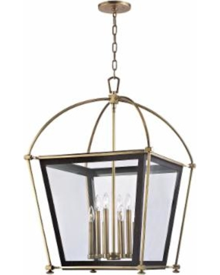 Hudson Valley Lighting Hollis 24 Inch Cage Pendant - 3624-AGB