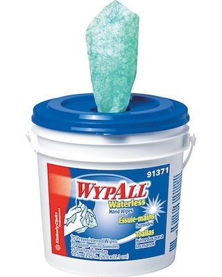 Wypall Waterless Hand Wipes, Citrus Fragrance, 75 Wipes/Bucket (91371EA)   Quill