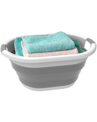 Lavish Home Hampers Gray - Gray Collapsible Laundry Basket