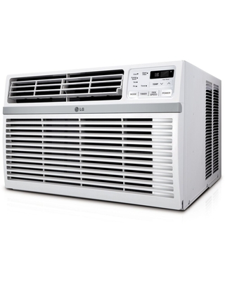LG Energy Star Rated 6,000 BTU Window Air Conditioner with Remote Control in White