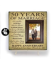 50th Wedding Anniversary Gifts for Parents Personalized Picture Frame 20x20