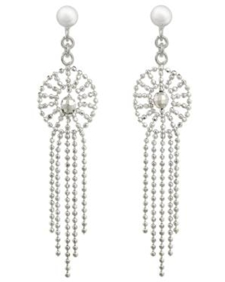 Thai Chandelier Earrings Handcrafted in Polished 925 Silver