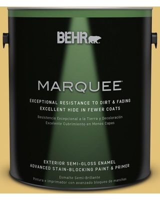 BEHR MARQUEE 1 gal. #370D-5 Summer Field Semi-Gloss Enamel Exterior Paint and Primer in One