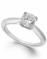 Classic by Marchesa Certified Diamond Solitaire Engagement Ring in 18k White Gold (1 ct. t.w.), Created for Macy's - White Gold