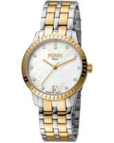 FERRE MILANO Women's Two-Tone Bracelet Watch, 44mm in Two Toned Ss Ip-Yg at Nordstrom Rack