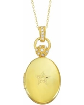 """Sterling Silver Diamond Accent Oval Star Locket Necklace, Women's, Size: 18"", White"""