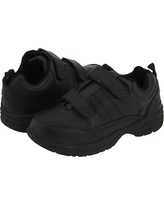 School Issue Athletic HL (Toddler/Little Kid/Big Kid) (Black Leather) Boy's Shoes