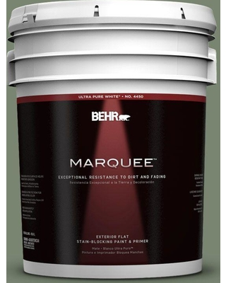 Don T Miss These Deals On Behr Marquee 5 Gal 440f 5 Winter Hedge Flat Exterior Paint Primer