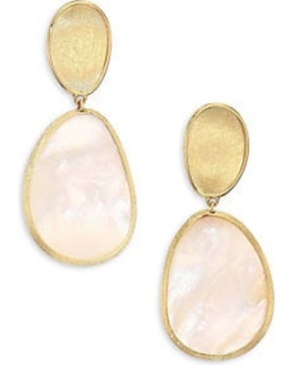 683fc669ffe1dc Marco Bicego Lunaria Petite 18K Yellow Gold & White Mother-Of-Pearl Earrings  - Gold