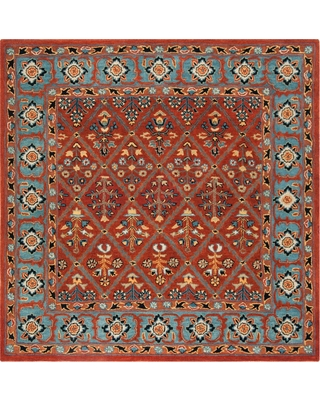 Safavieh Heritage Red/Blue 6 ft. x 6 ft. Square Area Rug