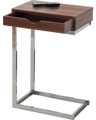 Accent Table with Drawer - Walnut (Brown) - EveryRoom
