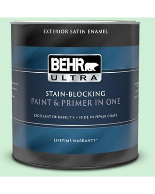 BEHR ULTRA 1 qt. #P400-2 End of the Rainbow Satin Enamel Exterior Paint and Primer in One