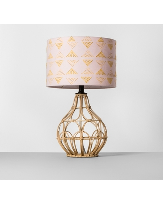 Check Out These Major Bargains Rattan Table Lamp Shade Pink