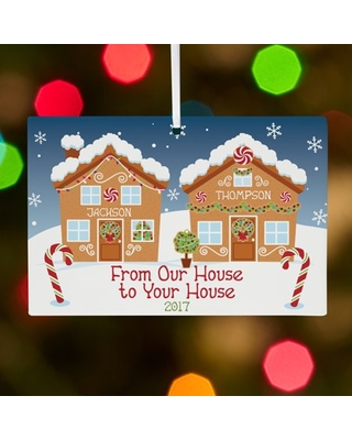 Personalized Holiday Greetings Christmas Ornament