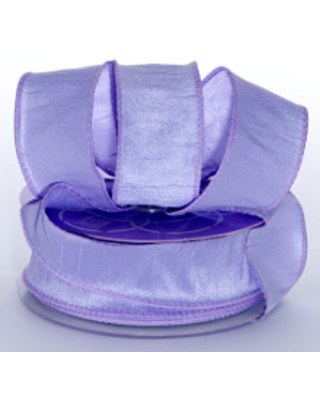 1-1/2 In X 20 Yards Lavender Dupioni Ribbon Silk by Paper Mart