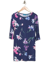TORI RICHARD For Your Iris Only Lana Bell Sleeve Shift Dress, Size Xx-Small in Navy at Nordstrom Rack