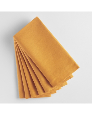 Golden Yellow Buffet Napkins 6 Count: Yellow/Gold - Cotton by World Market