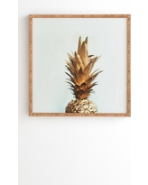 """Chelsea Victoria The Gold Pineapple Framed Wall Art 30"""" x 30"""" - Deny Designs"""