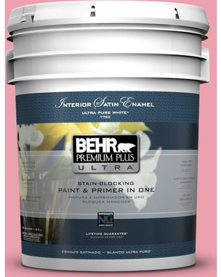 BEHR ULTRA 5 gal. #P150-3 Pinque Satin Enamel Interior Paint and Primer in One