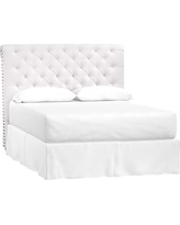 Chesterfield Headboard Only, Full, White Twill