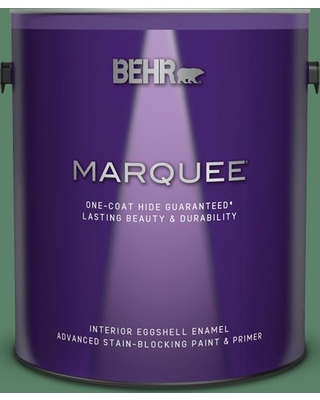 BEHR MARQUEE 1 gal. #BIC-55 Garden Greenery Eggshell Enamel Interior Paint and Primer in One