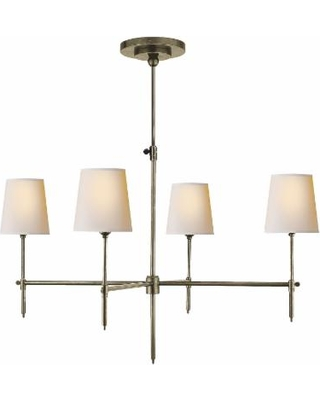 Visual Comfort and Co. Thomas O'Brien Bryant 36 Inch 4 Light Chandelier - TOB 5003AN-NP