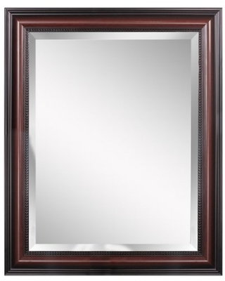 Head West Cherry Traditional Wall Mirror, 28 34-Inch