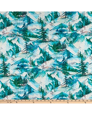 RJR Digital Pineview Winter Holiday Frost Quilt Fabric By The Yard