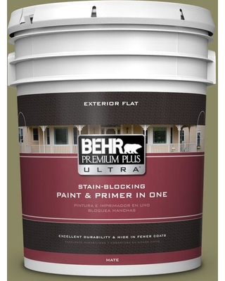 BEHR ULTRA 5 gal. #PPU9-23 Oregano Spice Flat Exterior Paint and Primer in One