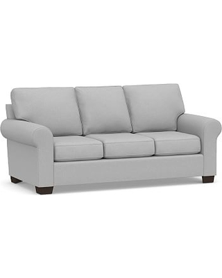 Buchanan Roll Arm Upholstered Sleeper Sofa, Polyester Wrapped Cushions, Brushed Crossweave Light Gray