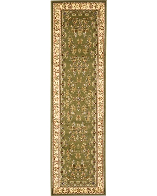2'3X14' Floral Loomed Runner Sage/Ivory (Green/Ivory) - Safavieh