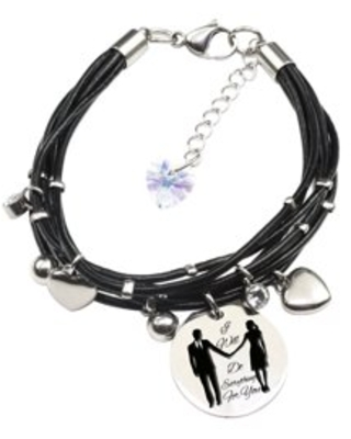 Genuine Leather Bracelet made with Crystals from Swarovski - I will do everything for you