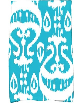 "Simply Daisy 16"" x 25"" Ikat Geometric Print Kitchen Towel"