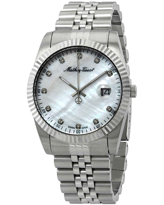 Mathey-Tissot Mathey II Quartz Crystal Mother of Pearl Dial Mens Watch H710AI