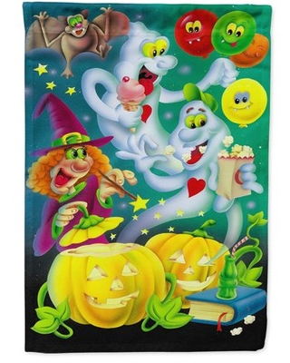 Witch Party with the Ghosts Halloween Garden Flag