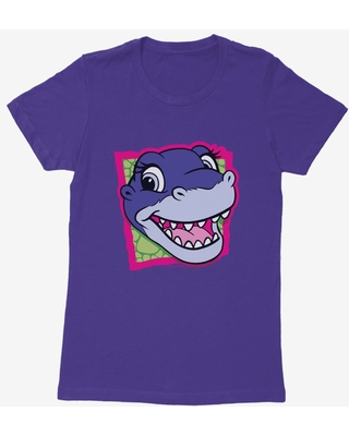 The Land Before Time Chomper Square Womens T-Shirt