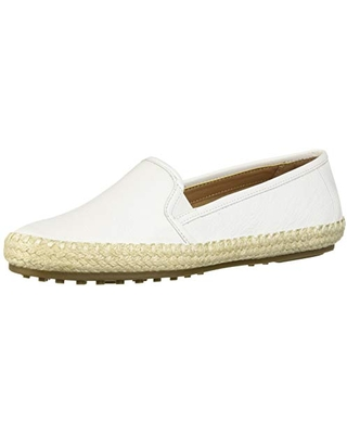 Aerosoles Women's Lets Driving Style Loafer, White Leather, 6 M US