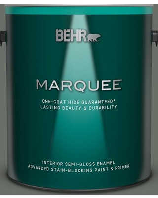 BEHR MARQUEE 1 gal. #ECC-41-3 Laurel Oak Semi-Gloss Enamel Interior Paint & Primer
