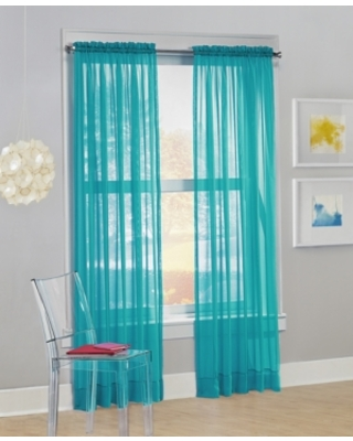 """No. 918 Calypso Voile Sheer Rod Pocket Curtain Panel, 84"""" L x 59"""" W"""