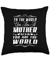 Family 365 World Mothers Day Gift Throw Pillow, 18x18, Multicolor