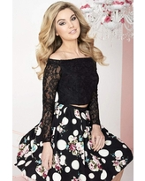 Tiffany Homecoming - 27123 Two Piece Lace Off-Shoulder Dress