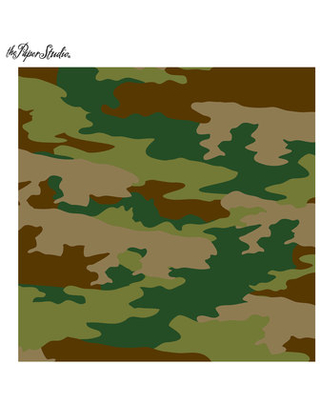 "Simple Camouflage Scrapbook Paper - 12"" x 12"""
