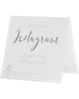 5ct Instagram Tent Cards, Party Decorations and Accessories