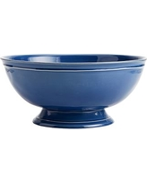 Cambria Footed Serve Bowl, Ocean Blue